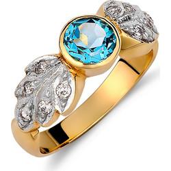 Δαχτυλίδι Χρυσό   Λευκόχρυσο Με Ζιργκόν   Μπλε Τοπάζι - 001992 27545e781dc