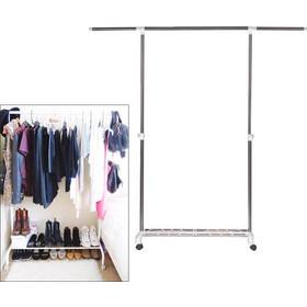 c0564788687a Μονή κρεμάστρα ρούχων δαπέδου με ραφάκι και ροδάκια(92x43x160cm)