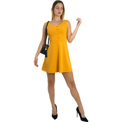 e957d7823bb4 Γυναικείο ώχρα κλος φόρεμα με κουμπιά Benissimo 91727Q