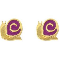 Παιδικά σκουλαρίκια σαλιγκαράκια από επιχρυσωμένο ασήμι και σμάλτο 0661b81e094