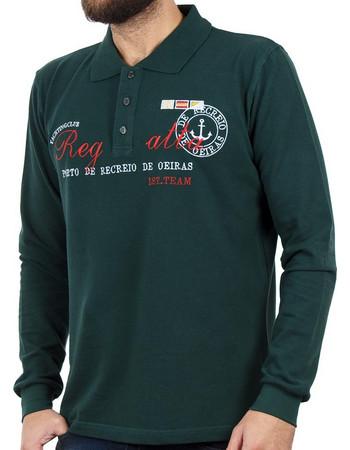432c9ff87215 Ανδρικό Μακρυμάνικη Μπλούζα με Γιακά POLO CARAG PIQUE 99-505-19N Πράσινο