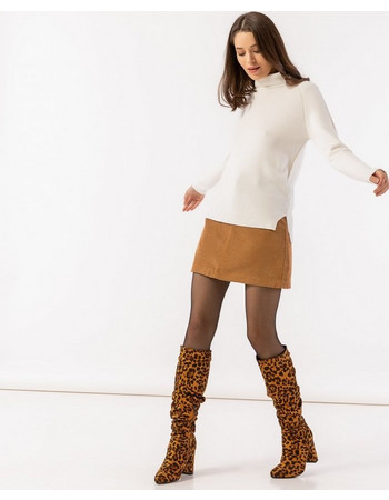 Mini κοτλέ φούστα σε Α γραμμή - Κάμελ 96e159fb804