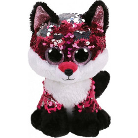 Ty Beanie Boos Flippables Χνουδωτό Sequin Αλεπού Ροζ - Λευκό 23 εκ.  1607-36440 3fd83ace895