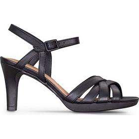 Πέδιλα High Heels γυναικεία Clarks Μαύρο Adriel Wavy c9452a57a95