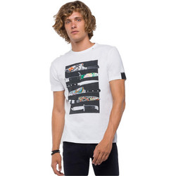 dc8c37306a3d REPLAY T-SHIRT WITH KNIFE PRINT