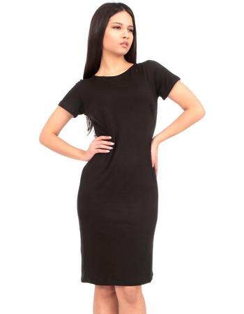 1c214c5eaa24 Μαύρο Κοντομάνικο Mini Φόρεμα Μαύρο Silia D