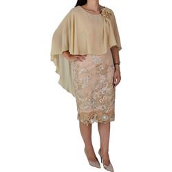 cffc9f94fd4 Μίντι Αμπιγιέ Φόρεμα Women's Style 1082 Μπεζ womens style 1082 mpe-1