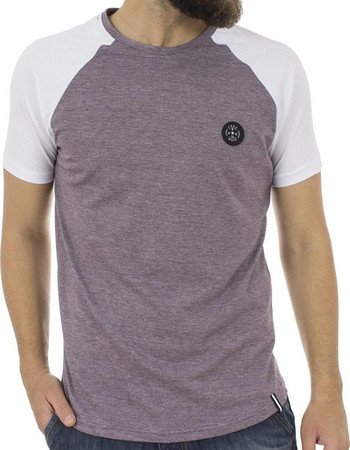 Ανδρικό Κοντομάνικη Μπλούζα T-Shirt FREE WAVE 81129 Μωβ 8348779ca3f