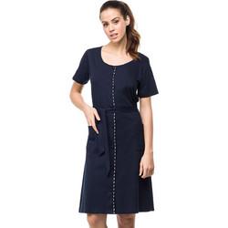 c172249d60f5 Vamp μπλε κλασσικό φόρεμα θαλάσσης με κουμπιά (μεγάλα μεγέθη) 0411