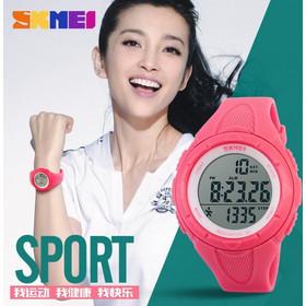 Ρολόι με βηματομετρητή χειρός γυναικείο SKMEI 1108 PINK c3c4d629413