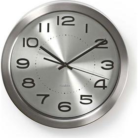 NEDIS Ρολόι τοίχου από ανοξείδωτο ατσάλι με μεγάλους ευανάγνωστους αριθμούς.  KA233-0029 233- 9a594d949d6