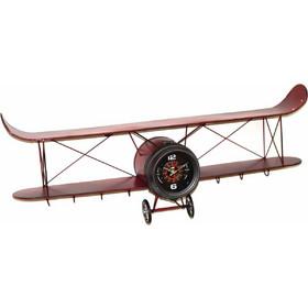 Μεταλλικό ρολόι τοίχου αεροπλάνο σε κόκκινο χρώμα 95x17x34 εκ f5f7c82a377