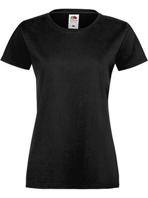 FRUIT OF THE LOOM LADY-FIT SOFTSPUN TEE ΜΑΥΡΟ (061414 36 BLACK)FRUIT OF THE LOOM