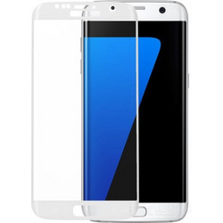 LCD Silicon Screen Protector for Samsung Galaxy S7 White (52177)