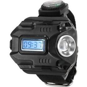 Ηλεκτρονικό USB ρολόι με LED φακό 300LM και πυξίδα e5ad5d2dae7