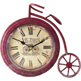 Διακοσμητικό Μεταλλικό Ρολόι Vintage Rustic σε σχήμα Ποδηλάτου Αντίκα σε 3  χρώματα 26χ23cm Κόκκινο - Cb a6b3624f296