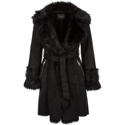 Παλτό με λεπτομέρειες συνθετικής γούνας WL238.7206+1 5a23b2a2953