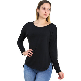 9bcfa60b5ad2 Γυναικεία μαύρη ασσύμετρη μπλούζα Cocktail 014101007L