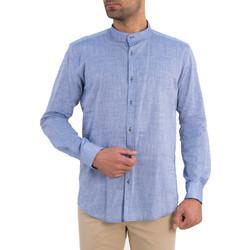 bf05c4ffe5e3 Ανδρικό σιελ πουκάμισο μαο γιακά Firenze 0195110