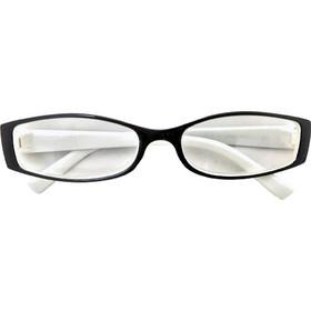 f6ebb9b961 Fashion Zone Unisex Γυαλιά Πρεσβυωπίας Διαβάσματος με Λεπτό Λευκό-Μαύρο  σκελετό και βαθμό +2.00
