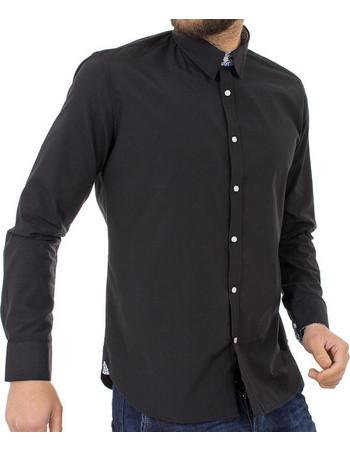 cf380c7c0de6 Ανδρικό Μακρυμάνικο Πουκάμισο Regular Fit Oxford Shirt DOUBLE GS-467 Μαύρο