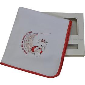 Πάνα Αγκαλιάς με ρέλι και κέντημα 90x90cm Red Bee Bebe Stars 3033 ae1c3e43aa4