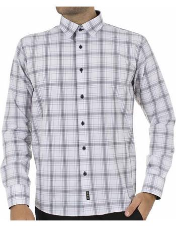 Ανδρικό Καρό Μακρυμάνικο Πουκάμισο CND Shirts 1400-9 Λευκό 0fd3faaef16