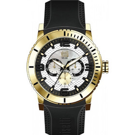 Visetti Era Gold Black Rubber Strap PE-750GB 5d1a475bb23
