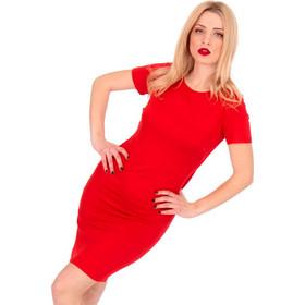 4a6fb859c9d6 Κόκκινο Κοντομάνικο Mini Φόρεμα Κόκκινο Silia D