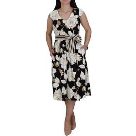 db4c114593b Φόρεμα Με Κουφόπιετες Passager 77184 Μαύρο Φλοράλ passager 77184 mayro