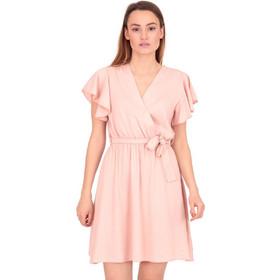 b43fc883baf8 Ρόζ Κρουαζέ Μini Φόρεμα με Ζωνάκι Ρόζ Silia D