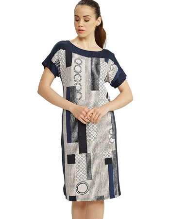 a2c85ac62195 Vamp μπλε midi βισκόζ κλασικό εμπριμέ φόρεμα θαλάσσης 6900 (μεγάλα μεγέθη)