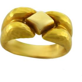 Δαχτυλίδι χρυσό 14 καράτια σφυρίλατο ματ e338f510c96