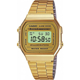 Casio Gold Stainless Steel Bracelet A-168WG-9EF