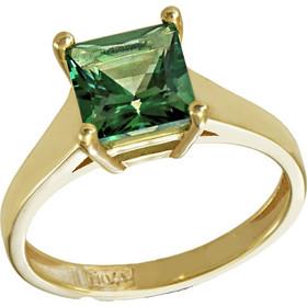Δαχτυλίδι μονόπετρο χρυσό 14 καράτια με ορυκτό σμαράγδι swarovski(R) 48a0480998d