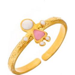 159495336cc Παιδικό μοντέρνο δαχτυλίδι από χρυσό Κ9 με κοριτσάκι