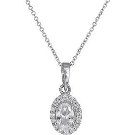 Λευκόχρυσο κολιέ δάκρυ Κ14 με συνθ. πέτρες 026414 026414 Χρυσός 14 Καράτια 64ab4d486d7