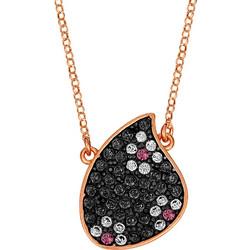 Κολιέ φύλλο σε ασήμι 925 με μαύρες πέτρες SWAROVSKI AK-E5383BKR1 99101599443