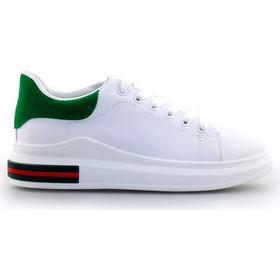 Γυναικεία sneakers με δίχρωμο σχέδιο Λευκό Πράσινο 027fe7afe12