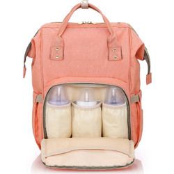 cc3cc8c04a Gabesy All in One Practical Baby Diaper Bag with Separate Pocket orange pink