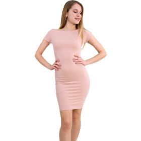 636caafe2fbc Γυναικείο Pencil φόρεμα κοντό μανίκι ροζ χαμόγελο 8157109C