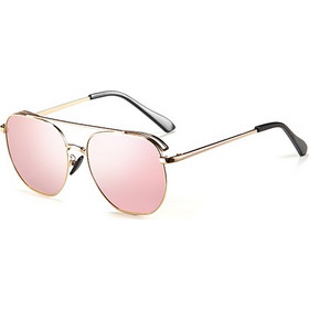 57c3ea86bf Waves Silver Series1147SS Men Metal Frame Mirror Polarized Sunglasses C3  Gold Pink