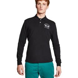 La Martina ανδρική μπλούζα με μακρύ μανίκι Milo - CCMP03-PK001 - Μαύρο d1fe96141b6