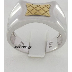 Δαχτυλίδι Ανδρικό Λευκόχρυσο 14 Καράτια 3778cf5e9a6
