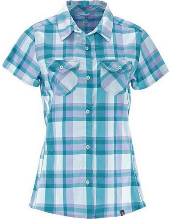 Γυναικείο πουκάμισο κοντομάνικο Salomon Equation Shirt W Boss Blue Μπλε  Salomon e7cd8a9fb28