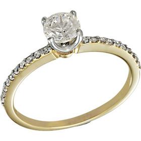 Δαχτυλίδι μονόπετρο χρυσό 14 καράτια με ορυκτό λευκό ζαφείρι swarovski(R) 8123ebf2c81