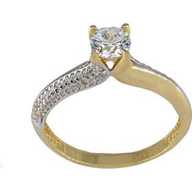 Δαχτυλίδι μονόπετρο χρυσό 14 καράτια με ζιργκόν 5 χιλιοστά e95f6edad89