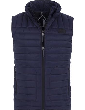 Superdry Fuji Double Zip Vest M50055YP-Midnight 4960af6e6ee