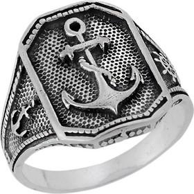 Ανδρικό Δαχτυλίδι από Ασήμι 925 με Άγκυρα a1bf3bdaf4c