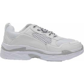 3587a3bcd6f Chunky sneakers με ασπρόμαυρα κορδόνια - Λευκό